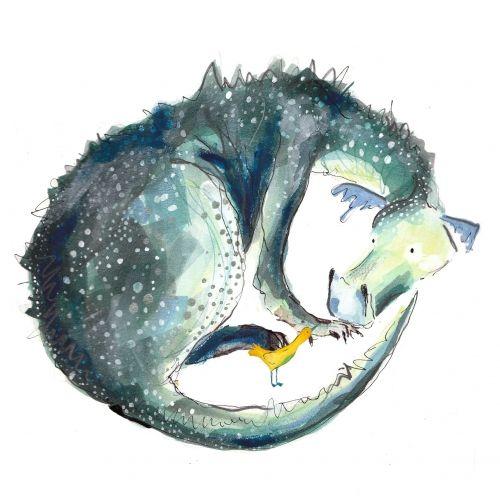 Catherine Rayner - 'Sylvia and Bird', greeting card image