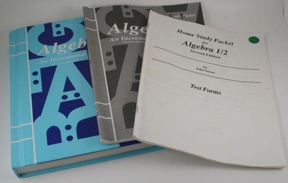 3 pc. SAXON MATH --ALGEBRA 1--2ND EDITION, TEXTBOOK, HOME STUDY PACKET, TESTS