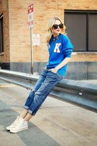 Blazon sport Jeanși albaștri clasici Converși Un accesoriu extravagant Ochelari badass