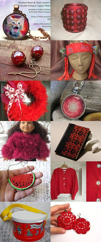 shades of red by Jennifer Zia on Etsy--Pinned+with+TreasuryPin.com