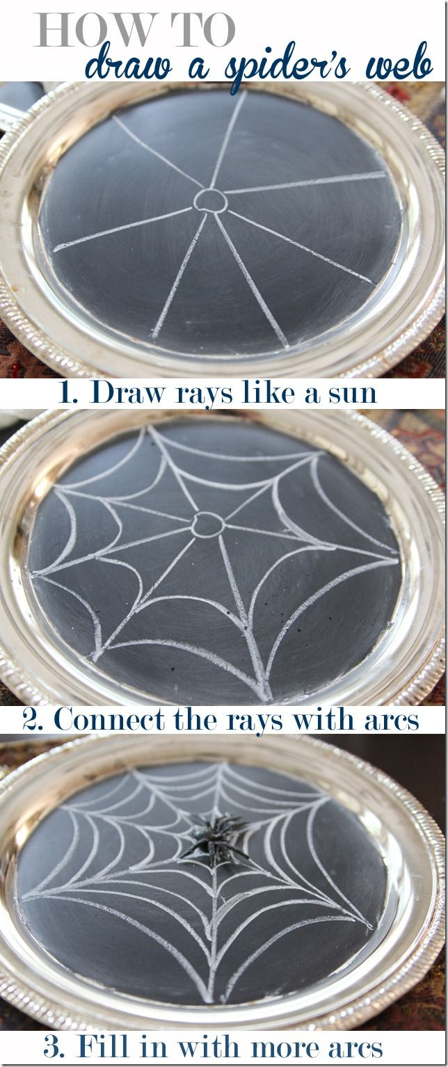Learn the super simple way to draw a spider web! #Halloween   via Unskinny Boppy