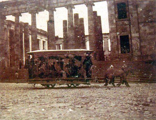 1881 Tranvía de mulas por la calle 10 #turisTIC #Bogota #clasica