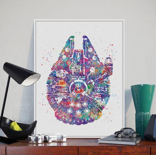 Star Wars Ship Wall Print