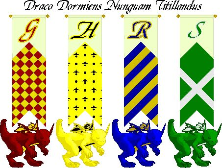 Hogwarts House Banners Harry Potter Party Pinterest