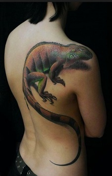 Iguana Side Body Tattoo
