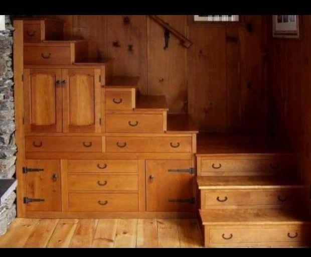 Storage Ideas Interior Stairs Drawers Desks Life Ladder Organization Stairways