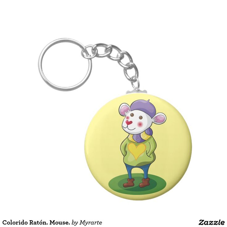Colorido Ratón. Mouse. Producto disponible en tienda Zazzle. Product available in Zazzle store. Regalos, Gifts. Link to product: http://www.zazzle.com/colorido_raton_mouse_basic_round_button_keychain-146981120018456910?CMPN=shareicon&lang=en&social=true&rf=238167879144476949 #llavero #KeyChain #ratón #mouse
