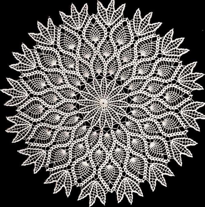 you have to appreciate and love the classic pineapple doilies