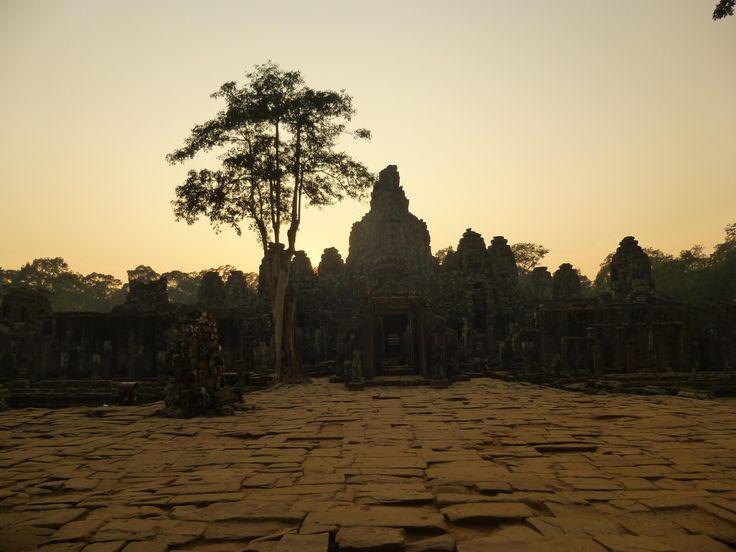 #Sunset #Bayon. #Temple #Angkor #Cambodia #Kambodscha