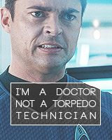 You know, Jim, when I said I dreamed of being stranded on a deserted planet with a beautiful girl, there was no torpedo.