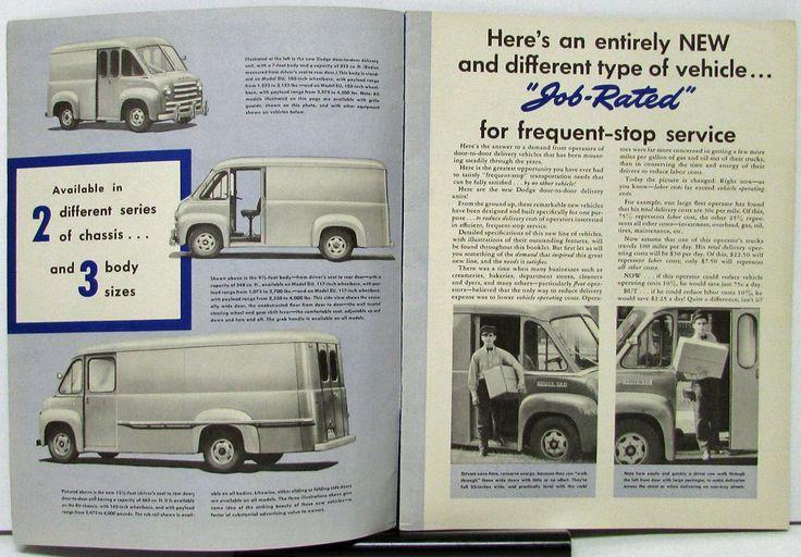 1949 Dodge Delivery van sales brochure inner pages