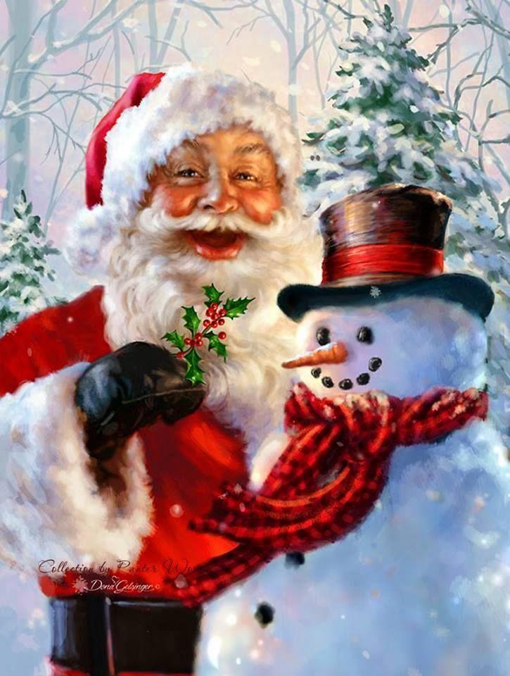 santa and the snowman - Snowman Santa