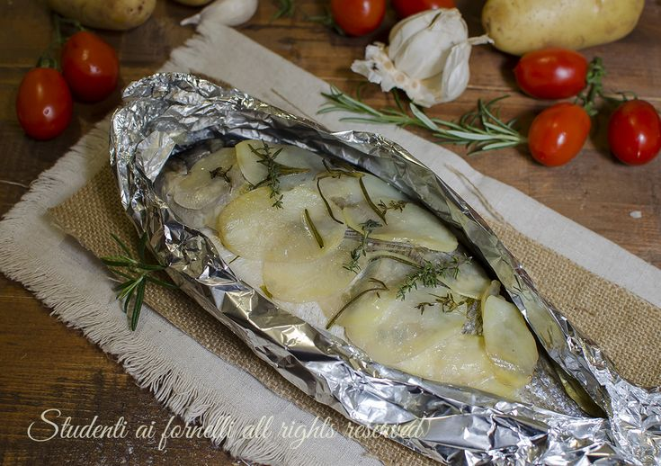 Orata in crosta di patate al cartoccio