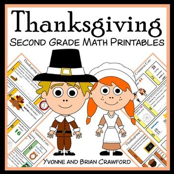 Thanksgiving No Prep Common Core Math is a packet of 10 different math worksheets featuring a Thanksgiving theme - ANSWER SHEETS INCLUDED! You can use one worksheet per day as a warm up to your daily classroom lesson.  This packet is designed to meet the level of a second grade student who is both reviewing those skills that were learned in the first grade while becoming familiar with the common core standards for the second grade.
