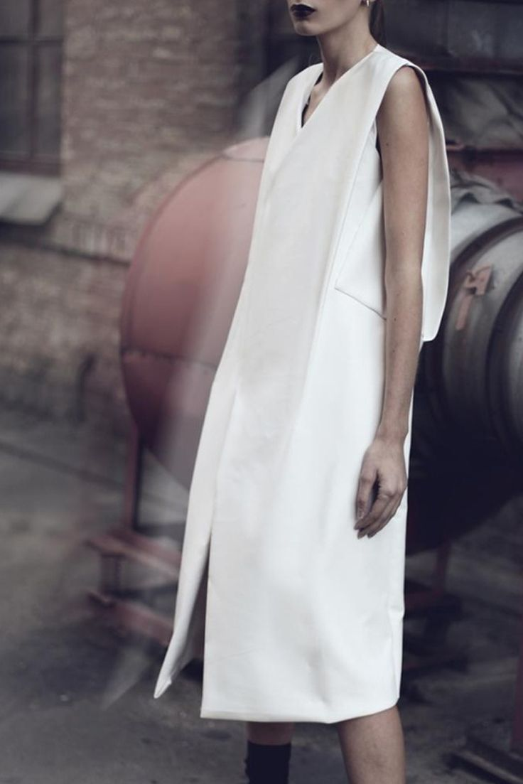 .tze goh white dress #minimalist #fashion #style