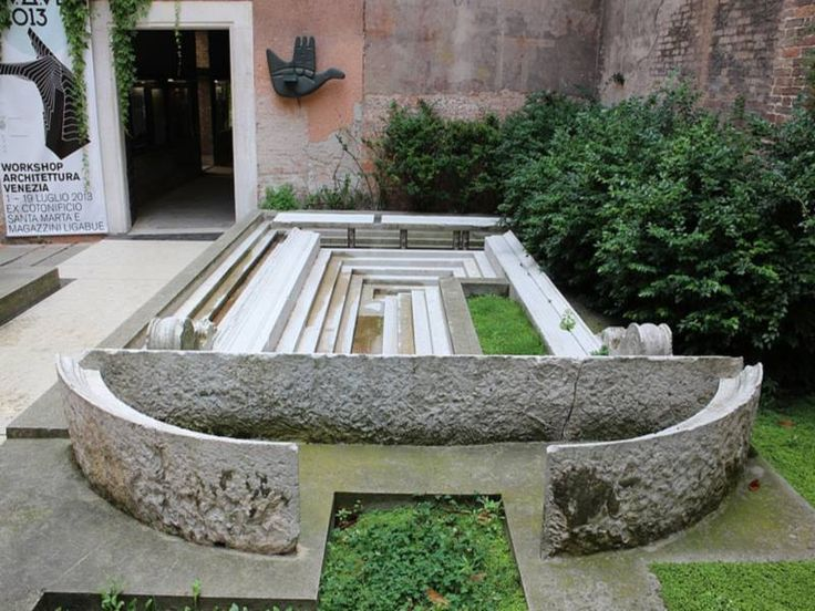 carlo scarpa / l'area d'ingresso della facoltà di architettura, università iuav venezia