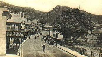 St George's Street, Simon's Town in circa 1900.