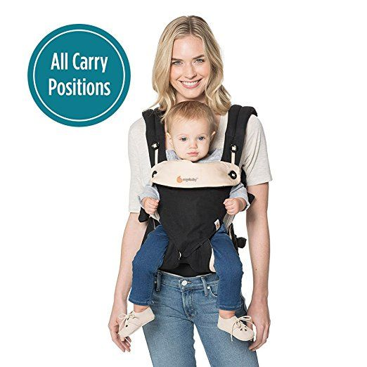 Ergobaby's Award-Winning 360 All Carry Positions Ergonomic Baby Carrier offers you and your baby the ultimate in comfort and flexibility while wearing your baby in any carry position MAXIMUM COMFORT FOR BABY: With its unique, structured bucket seat, the versatile Ergobaby 360 carrier keeps baby ergonomically seated in all carrying positions (front-outward, front- inward, hip and back carry).