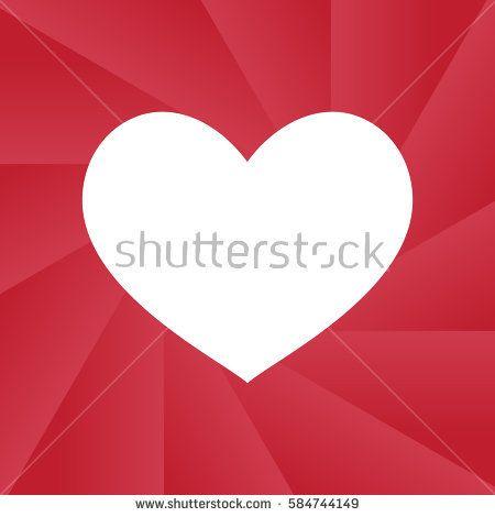 Heart vector icon- Shutter style illustration