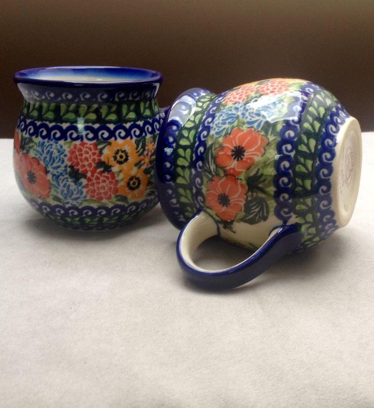 Кружки Болеславец / mugs Boleslawiec #посударучнойработы #керамикаручнойработы #посуда #ceramics #pottery #polishpottery ceramic tableware | pottery | polish pottery | boleslawiec | посуда | керамическая посуда | польская керамика | польская посуда | болеславская керамика | керамика