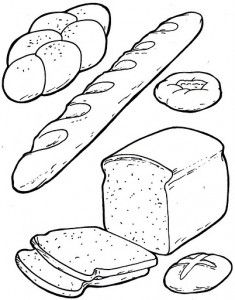Breakfast coloring page