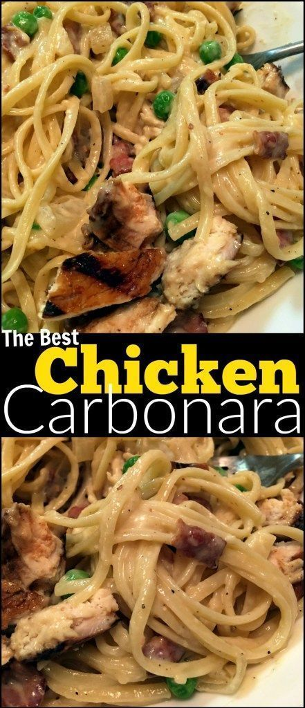 This Chicken Carbonara will put ANY restaurant's recipe to SHAME!  Possibly the best pasta dish on EARTH!  The reviews for this recipe have been UNREAL!! Amazing flavor &  pure Italian comfort food! You NEED this recipe in your back pocket.  Perfect for a