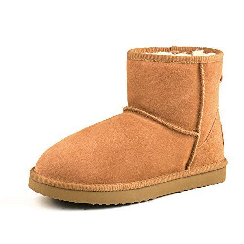 Shenduo – Boots homme Imperméable, Bottes de neige en cuir(daim), Chaussures fourrées d'hiver doublure chaude D5645 Marron 43: Tableau de…