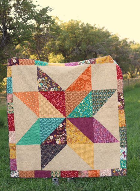Giant Star Quilt using Indie by @Alexis R Taylor Gallery Fabrics @Pat Bravo