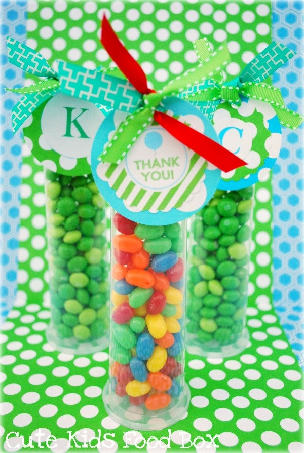 Candy Tubes - Party Favor Tubes Plastic Candy Tubes - 10 Pack. $9.00, via Etsy.