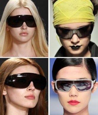 Occhiali sole mascherinaGli occhiali da sole a mascherina sono adattai ai visi lunghi e stretti