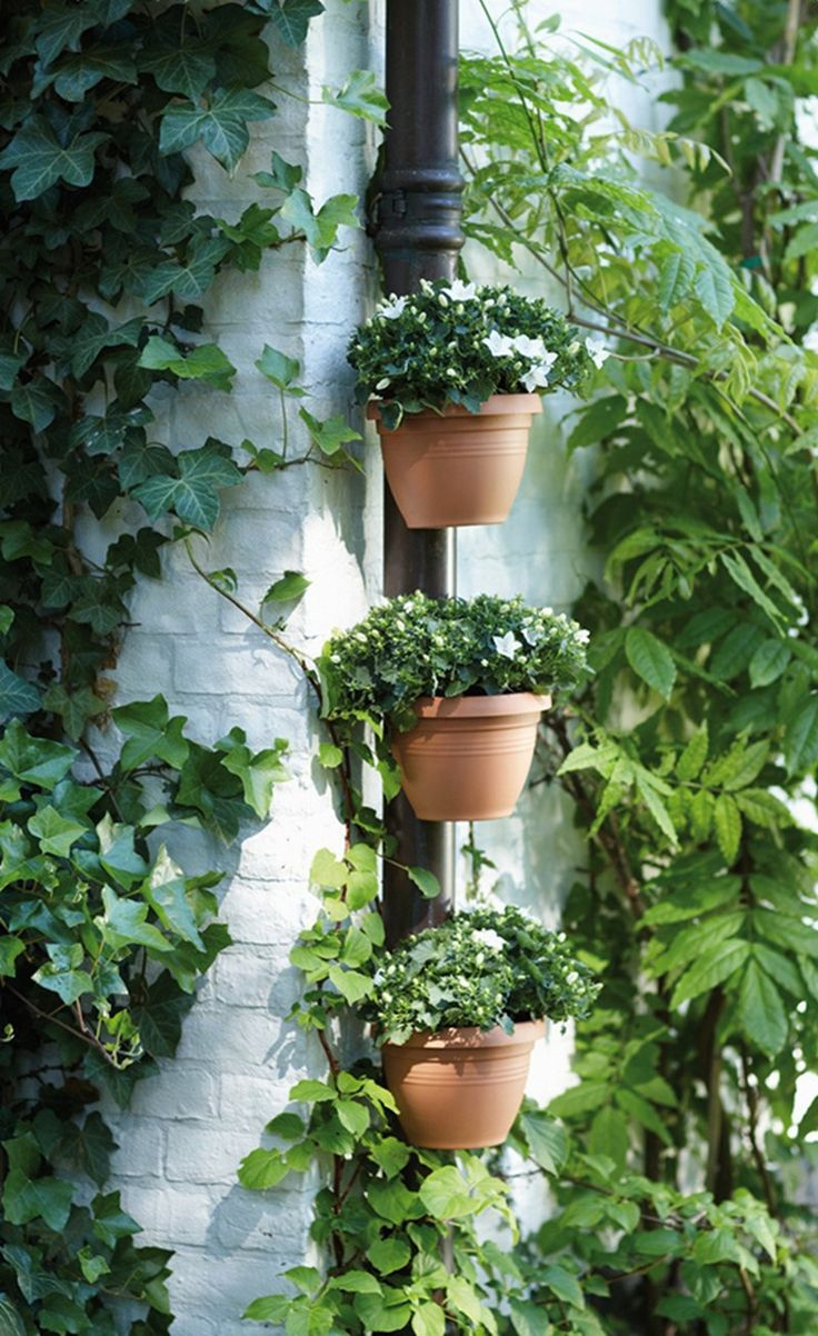 Find More Flower Pots & Planters Information about 3 Pc/Lot Unique Gutter Downspout Garden Flower Pot     DRAIN PIPE FLOWER PLANT POTS Tubs Drain Pipe Garden Planters,High Quality garden planter,China flower pot Suppliers, Cheap plant pot from Ningbo Hinta Plastic Factory on Aliexpress.com
