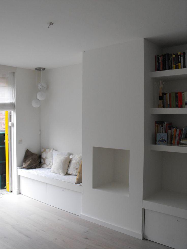 25 beste idee n over openhaard planken op pinterest openhaard ingebouwde kasten schouwmantel - Plank wandmeubel ...