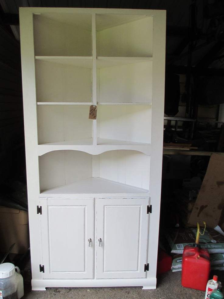 White Corner Hutch Tables Hutches Trays Pinterest