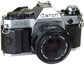 Classic Canon Camera for tattoo outline
