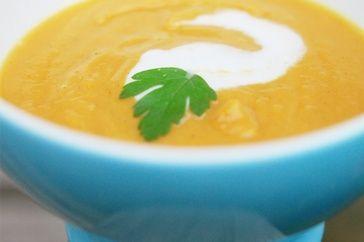 Coconut milk, sweet potato and chilli soup Recipe via @SparkPeople