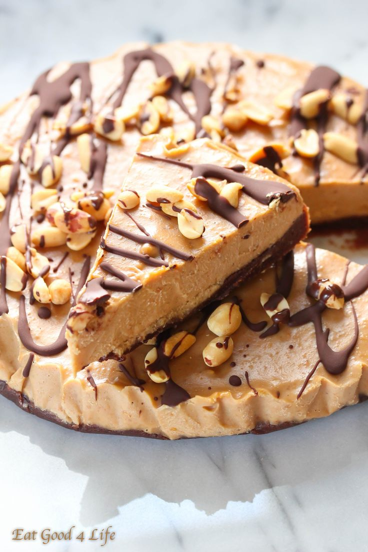 No bake peanut butter pie- gluten free and vegan
