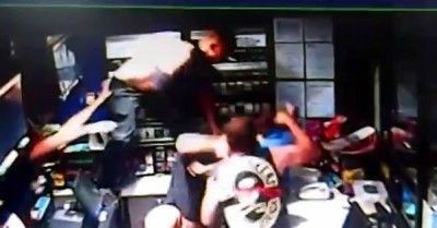 CCTV of Bikers attacking petrol attendant