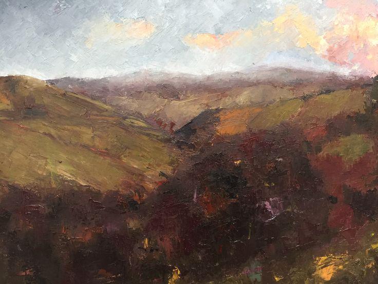 Bea Winschester - Landscape in oils.