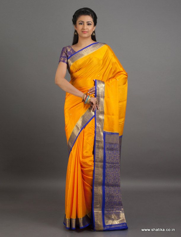 #Mysoresilk #sarees come in a variety of shades.