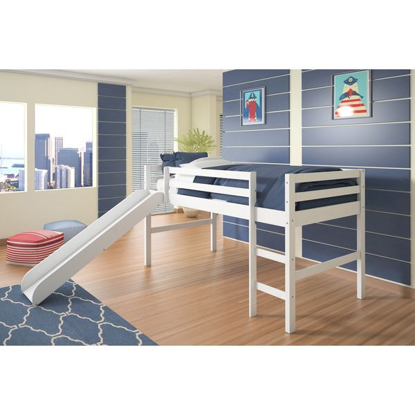 donco kids twin loft with slide by donco kids kid products and twin. Black Bedroom Furniture Sets. Home Design Ideas