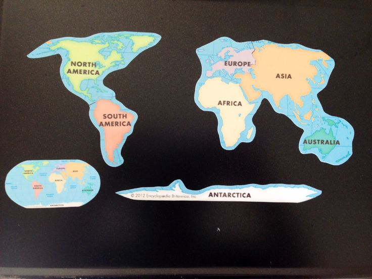 Printed on magnetic material this map is perfect for teaching children the continents. Laminated for added durability and water resistance it can be wiped cleaned and reused many times. The pieces separate into the 7 contents and come with a little guide (also magnetic). The pieces are on the large side, though I alway recommend supervising small children while they play with this item.