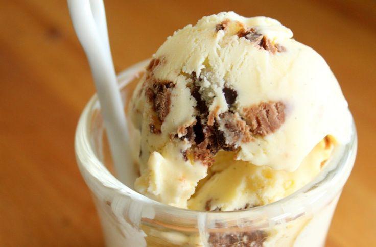 Varomeando con Thermomix Helado de yogur y galleta