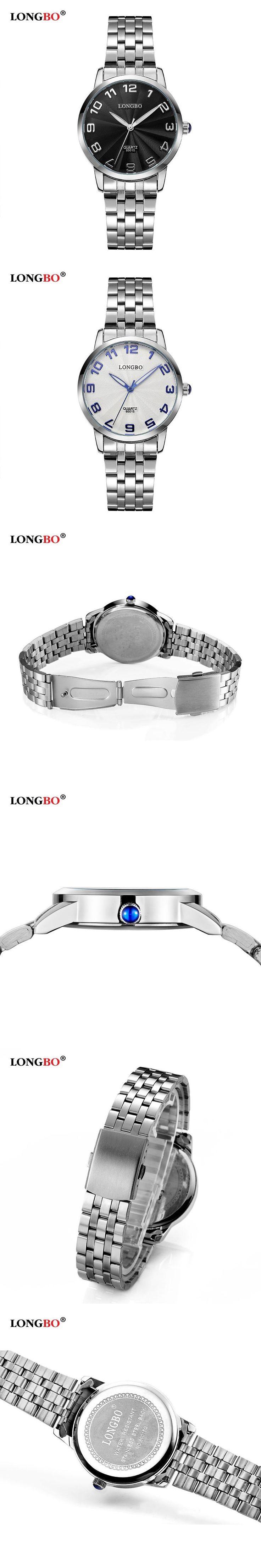 LONGBO New Fashion Watch Men Luxury Stainless Steel Simple Style Casual Business Quartz Watch Popular High-quality Elegant Clock