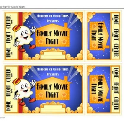 87 best images about Movie Night Party – Free Printable Movie Ticket Template