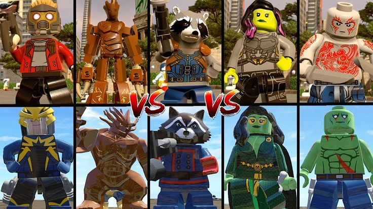Evolution of Guardians of the Galaxy in LEGO Marvel Super Heroes Games