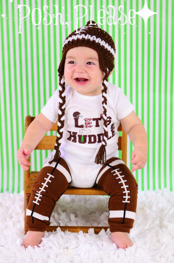 Let's Huddle Newborn Take Home Football Outfit Football Onesie Baby Boy Shower Gift Autumn Fall Outfit Football Fan Coming Home Outfit on Etsy, $12.95