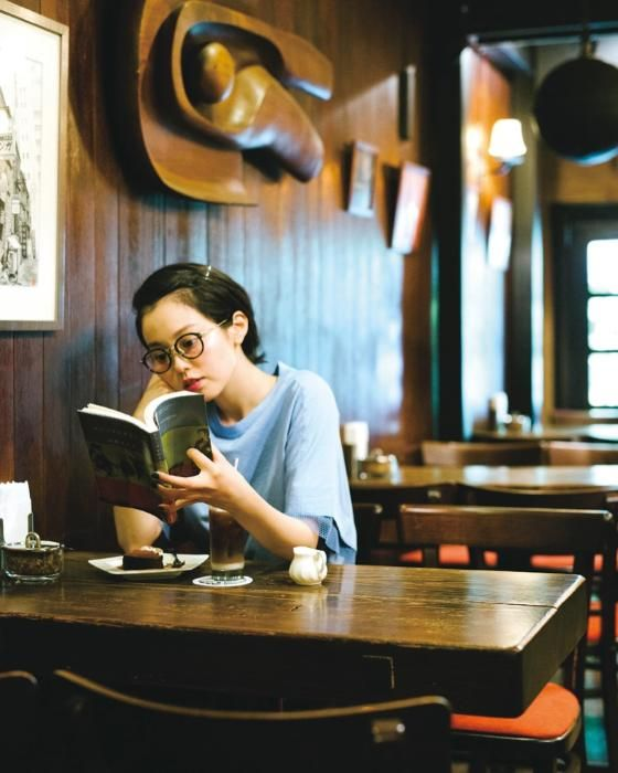Reading at the table