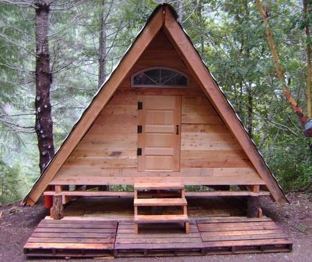A-frame sauna