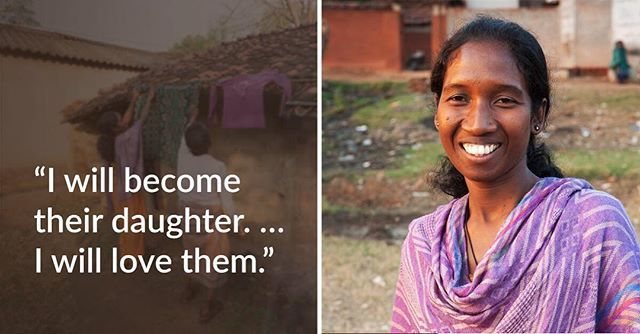 """Sakshi's own siblings rejected her when they found out she had leprosy. But when God completely healed Sakshi (pictured), she willingly ministered to others suffering from the same disease, loving them like her own family.⠀ ⠀ """"I will give that love which they are not getting from their grandchildren and daughters,"""" Sakshi says. """"I will become their daughter. … I will love them."""" See what she did: [link in bio]⠀"""