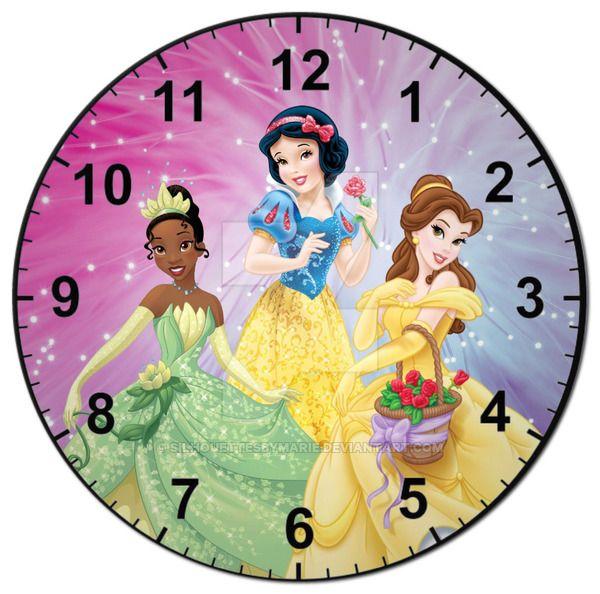 Princess Clock by SilhouettesbyMarie.deviantart.com on @DeviantArt